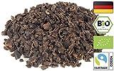 Edelmond Bio Kakaobohnen Splitter Nibs. Ungeröstete Samen vom Cacao, geschält. Criollo Superfood Zucker-frei. Frisch für Rohkost oder Vegan, nicht zum Backen. 250 g.