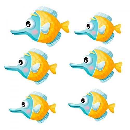 Aufkleber Meer: Gartenbank Fische kugelorchis, 30 x 17 cm