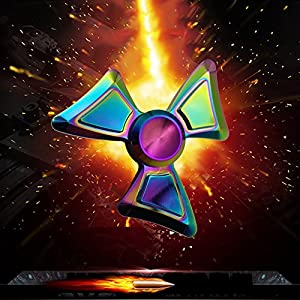Flybuild® Colorful Spider Metal Fidget Hand Spinner EDC Focus ADHD Autism Stress Relief Toy, Finger Spinner for Adult Kids