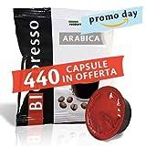 BIespresso 400 Capsule compatibili Lavazza a Modo Mio, 40 Capsule in Omaggio, caffè, Miscela 100% Arabica, Peso Prodotto 7 kg, Produzione Italiana