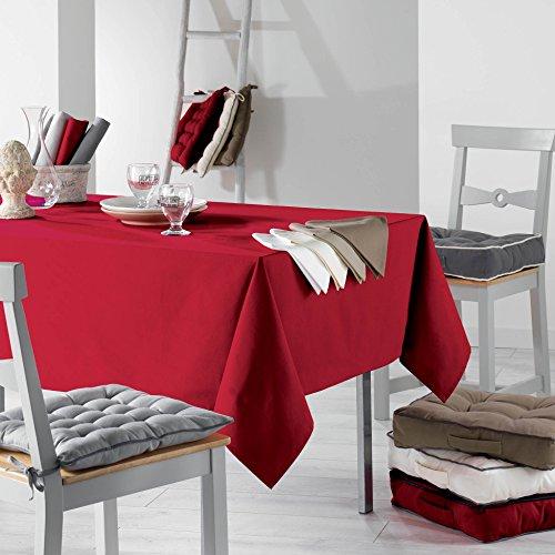 Le Jardin des Cigales Set de 3 Serviettes de Table Ideale Coton Anthracite 40 x 40 cm