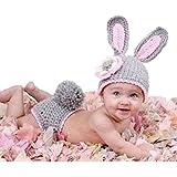 FEITONG Bebé muchacho de las muchachas recién nacido 0-9 Mes de punto de ganchillo Minnie apoyo de la foto de ropa Trajes