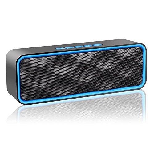 Altavoz Bluetooth, Aigoss Altavoz Inalámbrico Portátil Para Exteriores con Audio HD y Graves Mejorados, Altavoz de Doble Controlador Integrado, Altavoces Bluetooth 4.2, Llamadas Manos Libres, Radio FM