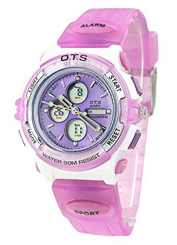 r Wasserdicht LED Analog Digital Armbanduhr Sportuhr Jungen Mädchen Elektronische Sport Uhr mit Kalender Alarm Chronograph ()