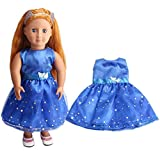 dolls accessory dolls clothes, DIY Doll Clothes Dress Lovely Princess Dress Up Costume Clothes christmas Dress skirt for 18 inch our generation Fashion Dolls - Hirolan Dolls Outdoor Accessories (Blue)
