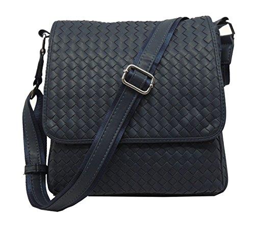 Yy.f Vendita Uomini Bag Borse In Pelle Sacchetto Del Messaggero Tessuto Borse Casual Fatti A Mano Borsa A Tracolla A Conchiglia Stile Modelli Stella Borsa 2 Colori Blue