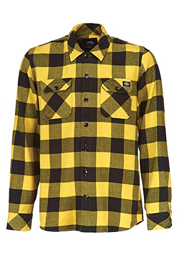 Dickies Herren Freizeithemd Sacramento, Gelb (Yellow YL), XL