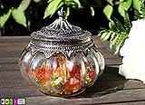 Nostalgie Glas Dose Bonboniere mit Metalldeckel