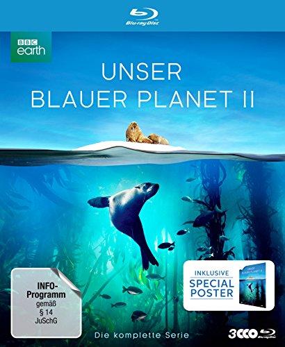 """Produktbild UNSER BLAUER PLANET II - Die komplette ungeschnittene Serie zur ARD-Reihe """"Der blaue Planet"""" (amazon Exklusiv-Version mit Poster) [Blu-ray] [Limited Collector's Edition]"""