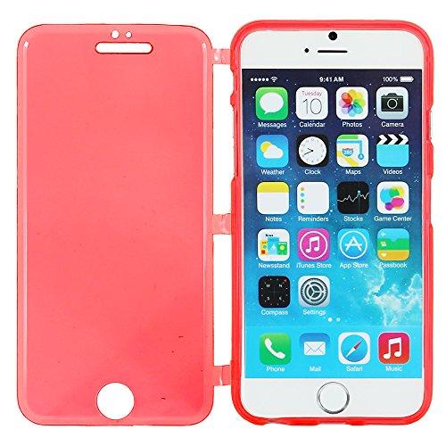"""ebestStar - pour Apple iPhone 6S 6 écran 4.7"""" - Housse Etui Coque Silicone Gel Portefeuille + Stylet tactile, Couleur Transparent [Dimensions PRECISES de votre appareil : 138.1 x 67 x 6.9 mm, écran 4. Rouge"""