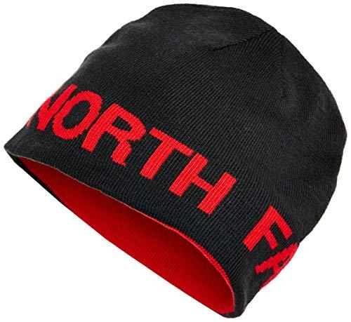 The north face rvsbl banner, berretto uomo, nero (tnf black/tnf red), taglia unica