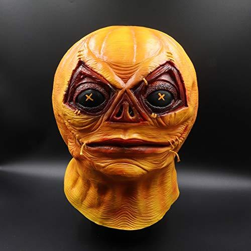 Balight Halloween Horror Kürbis Latex Maske Vollgesichtsbedeckt Für Erwachsene Und Kinder Cosplay Streich Requisiten (Kürbisse Halloween Crafts Wenig)
