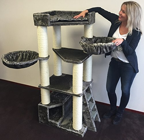 RHRQuality Cat Tree for large cats Corner Coon Grey Taupe cat scratcher scratching post activity centre for large cats. Quality production from