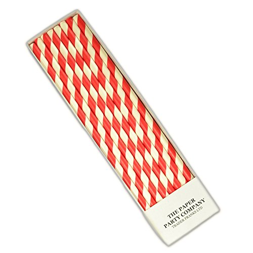25-x-retro-paper-straws-over-50-colour-choices-in-listing-striped-polka-dot-by-tfs-ruby-red-stripe