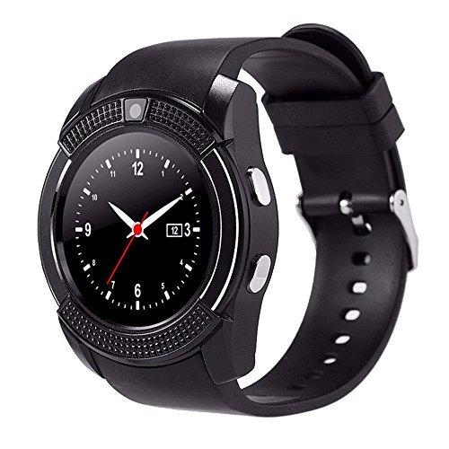 ZOMTOP V8 Sport Bluetooth Runden Zifferblatt Handgelenk Smart Watch Kamera SIM TF Slot für IOS Android Fashion(schwarz) Kamera Web-monitoring