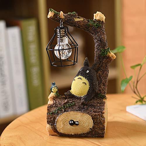 XKDWAN Totoro Anime Nachtlicht, Kinder lesen Nachtlicht, Schreibtisch Nachttisch Reading Lamp Hayao Miyazaki Anime japanischen Lebensmittelhandwerken Geschenk kleine Ornamente,002 (Der Japanische Spielzeug-küche)