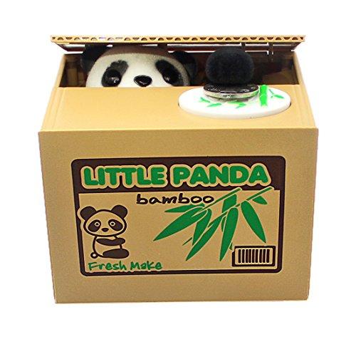 Giancomics Gelddose Kinder Spardose Münzen Euro Diebstahl Sparbüchse - Schlaue Elektronische Spardose (Panda) Elektronische Komponente Box