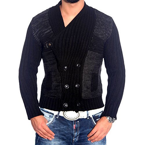 Rusty Neal - Sweat-shirt à capuche - Homme - Noir/gris