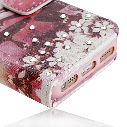 Etsue Case pour Apple iPhone 6/6S 4.7,Premium Folio PU Cuir Portefeuille Cover pour Apple iPhone 6/6S 4.7,Crystal Diamond Flip Case Leather Wallet Housse pour Apple iPhone 6/6S 4.7,Beauté Motif avec s Fille laptop