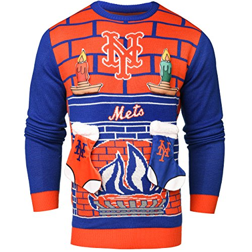 Forever Collectibles MLB 3D Ugly Pullover, Unisex, New York Mets, Small (New York Mets)