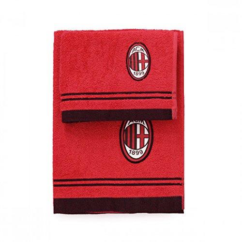 Set spugna coppia 2 pezzi 1+1 ospite 40 x 60 + asciugamano 60 x 100 milan asciugamani 100% spugna di puro cotone rosso nero