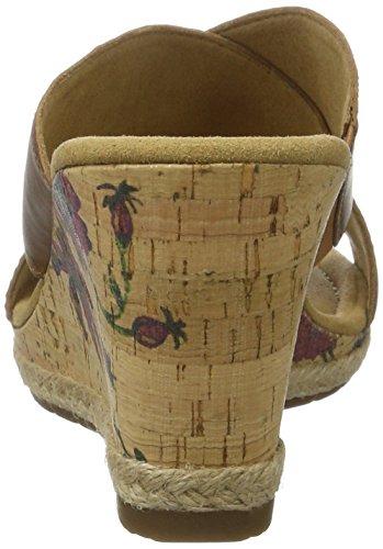 Gabor Damen Comfort Offene Sandalen mit Keilabsatz Braun (peanut(KorkFl/Jute) 55)