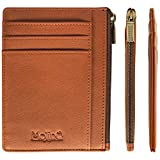 Minimalist Card Wallet with Zip Coin Pocket and ID Window | Super Slim