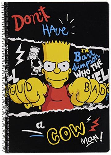 The Simpsons Quaderno copertine rigide 80, colore: nero (Safta 511605066)