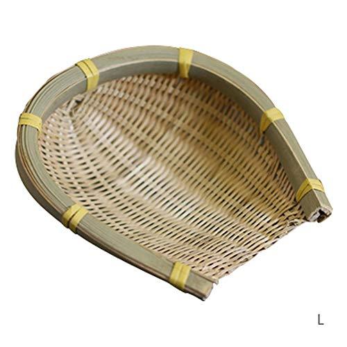 Ibaste-es vassoio di pane cestino realizzata a mano di bambù di archiviazione di acquisti dim sum cestino di frutta di sushi piatto di placca 20x21cm