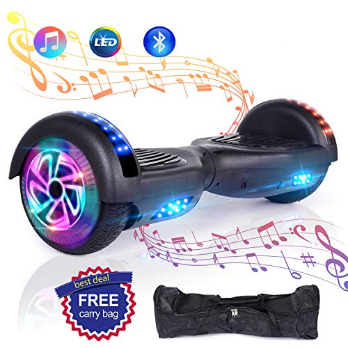 "Huanhui 6.5"" Hoverboard Elektro Scooter, Bluetooth Lautsprecher, Starker Dual Motor 2 * 300W, LED Lights, Elektro Skateboard Self Balance Scooter"