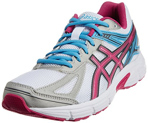 ASICS Women's Patriot 7 White, Hot Pink and Soft Blue Mesh Running Shoes -4 UK/India (37 EU)(6 US)  available at amazon for Rs.2799