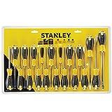 Stanley Tools sta060213Essential Schraubendreher, gelb/schwarz (20Stück)