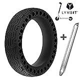 LYMBIT Neumático sólido antideslizante reemplazo para ruedas Llanta De...