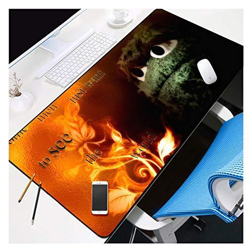 IGIRC Mauspad Plüsch Monster Speed   Gaming Mauspad  XXL Mousepad   800 x 300mm Großformat  3 mm Dicke Basis  Perfekte Präzision und Geschwindigkeit, P -