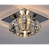 amzdeal® G9 40W Plafonnier Halogène lampe Lustre Moderne Crista applique murale lumineuse