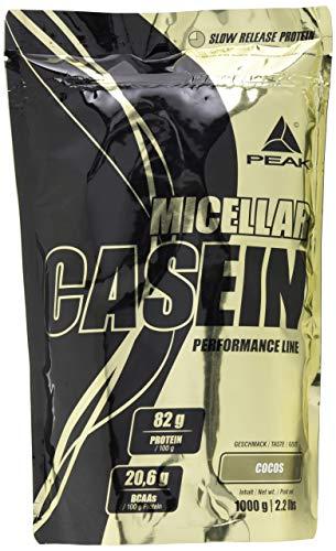 PEAK Micellar Casein 1000g| 100{a564ceeb1d5027dfe507f27fa06dfe0b700c8431b5a77381b4241b54c702ecf7} natürliches & bioaktives Casein Protein mit Aminos | (Cocos)