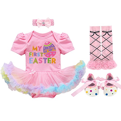 Neugeborene Baby Mädchen Erstes 1st OsternOutfits Kleidung Set Rosa Osterei 3-6 Monate (Ostern-kleider Baby-mädchen)