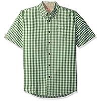 قميص كاروهات اصلي منسوج باكمام قصيرة للرجال من رانجلر Forest Shade XL