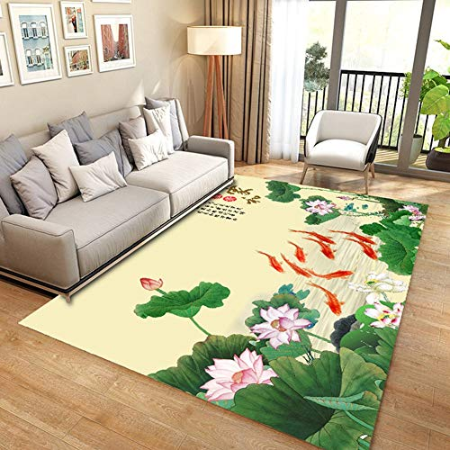 Chinesische Teppich (DTY-WXH Muster-rechteckiger Teppich der Wohnzimmer-Teppich-chinesischen Art-3d,B,140 * 200CM)