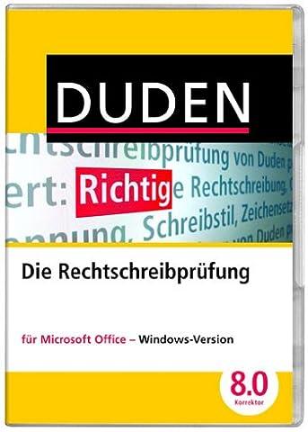 DUDEN Die Rechtschreibprüfung für MS Office, Korrektor 8.0