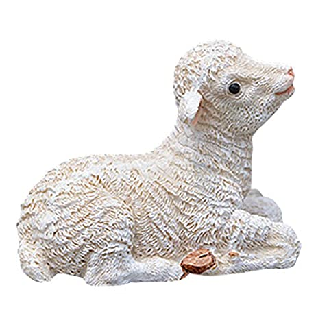 Zantec Miniature Simulated Sheep Garden Home Decoration Resin Realistic Sheep Figure Statue