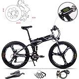 RICH BIT Bicicleta de Montaña Eléctrica, Unisex Adulto, Urbana EBIKE-26,Gris