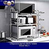 Kitchen furniture Küchenmöbel-WXP Edelstahl-Mikrowellenherd-Gestell-Frucht-und Gemüse-Stand-Küchen-Regal-Metallblumen-Stand-drei Schichten WXP-Küchenschränke und Besteckschränke (Farbe : D)