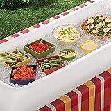 GJXY Aufblasbare Bierkühler Tisch Pool Float Sommer Wasser Party Luftmatratze Eiskübel Servieren/Salat Bar Tablett,134 * 64CM