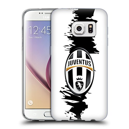 Ufficiale Juventus Football Club Slash Stemma Cover Morbida In Gel Per Samsung Galaxy S7