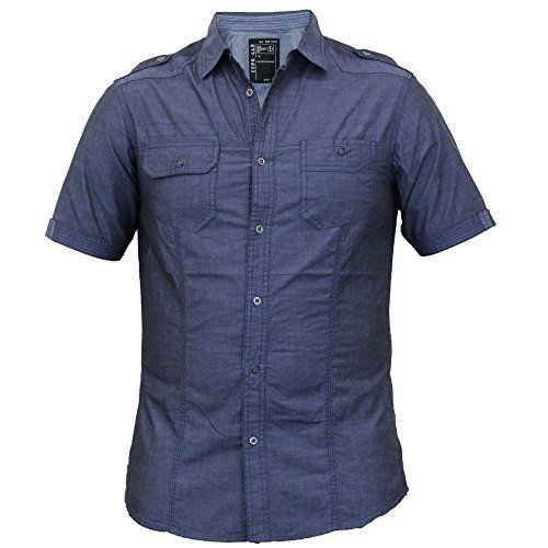 Hommes Chemise Manches Courtes By Dissident Indigo - 1H7552