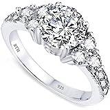 Ladies Ring - 925 Sterling Silver Ladies Wedding Engagement Band Ring