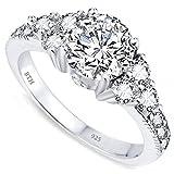 BestToHave Ladies Ring - 925 Sterling Silver Ladies Wedding Engagement Band Ring J