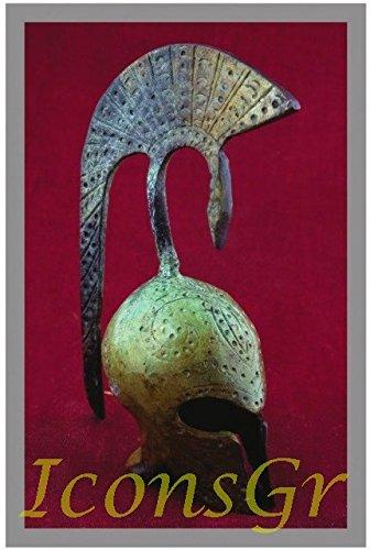 IconsGr Antike griechische Bronze Museum Replik Korinthischer Helm (1372) -