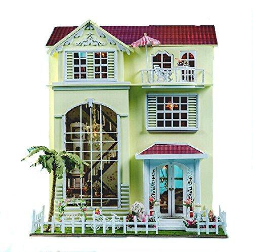 Villa Solo ieri rivisto la versione del kit di casa di bambola fatta a mano impostato in miniatura villa da sogno
